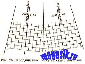 § 18. Дополнительная координатная сетка на стыке двух зон