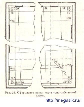 § 16. Определение географических координат точек, заданных на карте